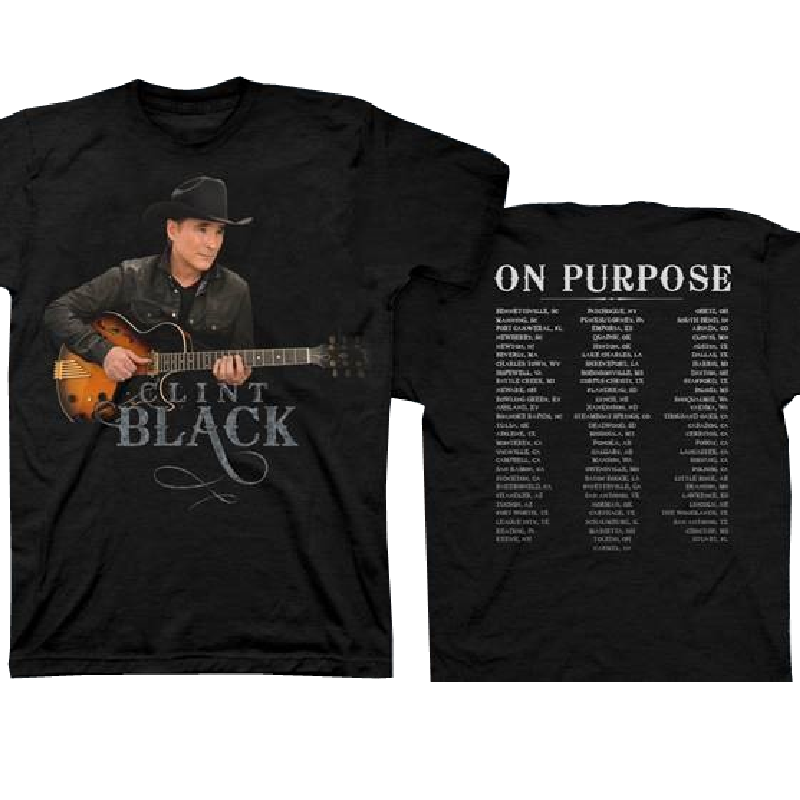 Clint Black Black Tour Tee