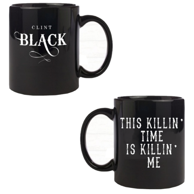 Clint Black Black Coffee Mug