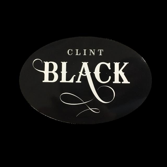 Clint Black Oval Sticker