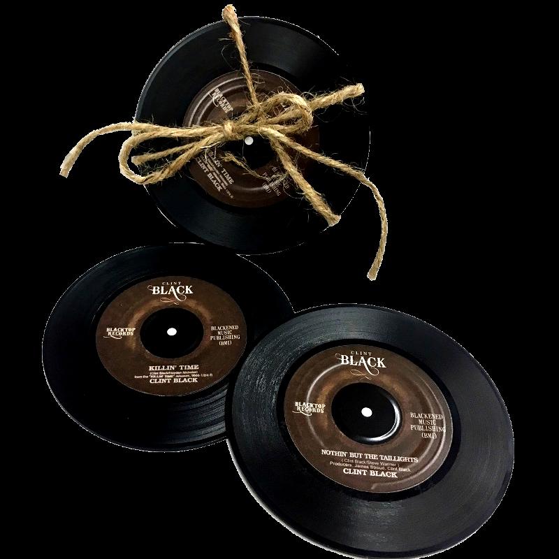 Clint Black Record Coaster Set