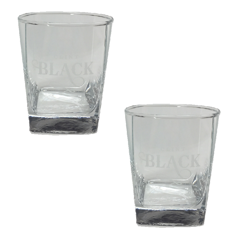Clint Black Glassware