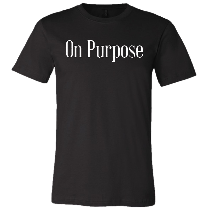 Clint Black On Purpose Black Tee