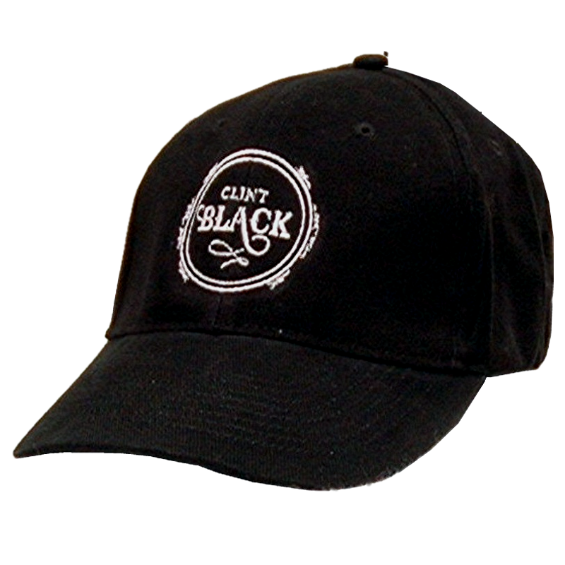 Clint Black Black Ballcap w/ Circle Logo
