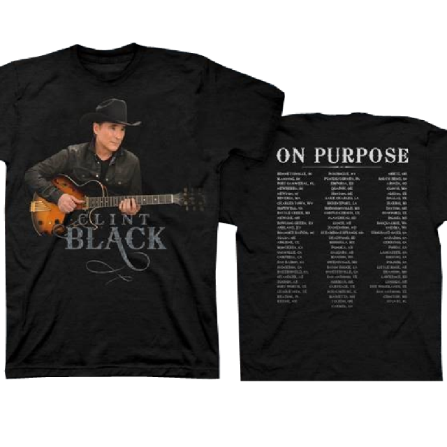 Clint Black Black Tour Tee