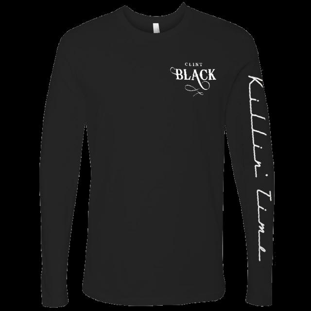 Clint Black Long Sleeve Black Logo Tee