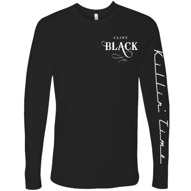 Clint Black Long Sleeve Black Logo Tee