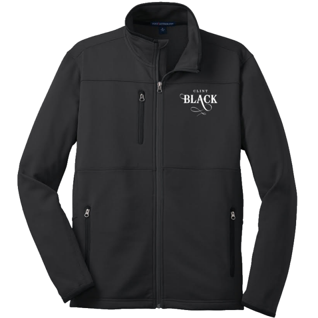 Clint Black Pique Fleece Jacket