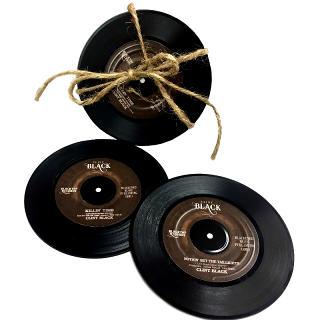 Clint Black Record Coaster Set