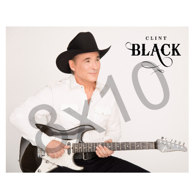 Clint Black 8x10- Logo