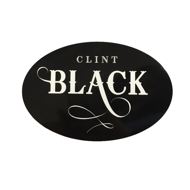 Clint Black Oval Sticker