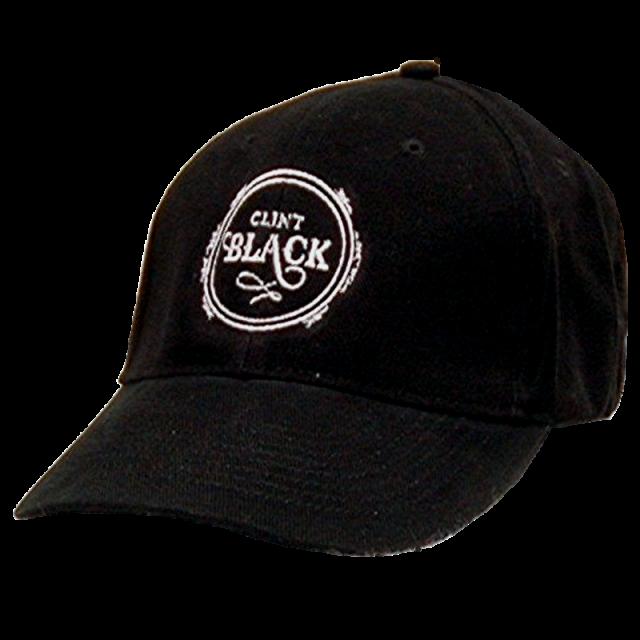 Clint Black Black Ballcap w/ Circle Logo