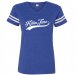 Clint Black Royal and White V Neck Football Jersey Tee